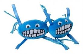 Rogz Плюшевая игрушка для кошек Flossy Grinz с кошачьей мятой, синяя