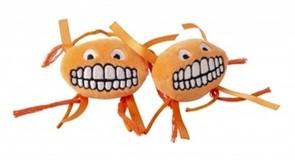 Rogz Плюшевая игрушка для кошек Flossy Grinz с кошачьей мятой, оранжевая