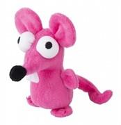 Rogz Игрушка для кошек: плюшевая мышка с кошачьей мятой, розовая