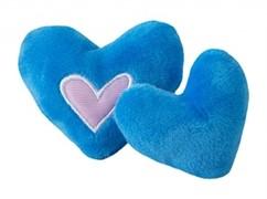 Rogz Игрушка для кошек: плюшевые сердечки с кошачьей мятой, синие