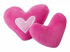 Rogz Игрушка для кошек: плюшевые сердечки с кошачьей мятой, розовые