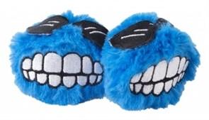 Rogz Игрушка для кошек: плюшевые мячики Fluffy Grinz с кошачьей мятой, голубые