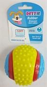 "Dezzie Игрушка для собак ""Мяч"" рифленый, 8 см, резина"