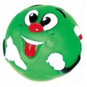 """Dezzie Мяч """"Зеленый смайлик"""" для собак, 8,5 см, винил"""