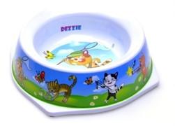 "Dezzie Миска ""На отдыхе"" для кошек, 300мл, 16,5 х 16,5 х 5см, пластик"