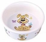 Dezzie Миска керамическая для собак, 300 мл, 12,5x12,5x4,5 см