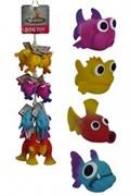 Игрушка для собак Морская Рыбка, 10-14см, латекс