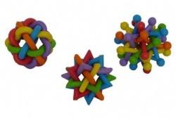 Игрушка для собак Цветная головоломка, латекс, 7-8см