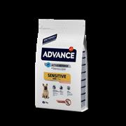 Advance Для собак малых пород с чувствительным пищеварением: лосось и рис (Mini Sensitive)