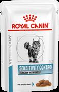 ROYAL CANIN (Роял Канин) Мелкие кусочки в соусе для кошек с пищевой аллергией c курицей, Sensitivity control Chicken S/O