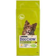 DOG CHOW Пурина Дог Чау корм для собак эдалт кура (14 кг)
