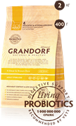 Grandorf  4 вида мяса с рисом sterilised (2 кг)