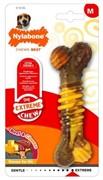 Nylabone Кость текстурированная экстра-жесткая, аромат говядины и сыра, М 80 гр