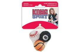"""KONG игрушка для собак Air Sport """"Теннисный мяч"""" очень маленький (в упаковке 3 шт.) 4 см без пищалки"""