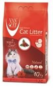 VAN CAT Комкующийся наполнитель 100% Натуральный, без запаха, пакет (Natural) 20 кг