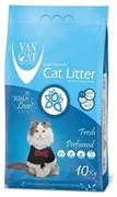 VAN CAT Комкующийся наполнитель без пыли с ароматом Весенней свежести, пакет (Fresh) 10 кг