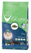 VAN CAT Комкующийся наполнитель без пыли с ароматом Соснового леса, пакет (Pine) САЛАТОВЫЙ 10 кг