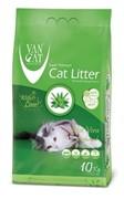 VAN CAT Комкующийся наполнитель без пыли с ароматом Алоэ вера , пакет (Aloe Vera) 10 кг