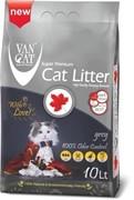 VAN CAT Комкующийся наполнитель с активированным углем, без пыли, 10 л, пакет (Grey) 8,5 кг
