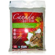 CANADA LITTER Канадский комкующийся наполнитель Запах на Замке, аромат детской присыпки  (Scoopable Litter) 18 кг