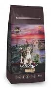 Landor PUPPY с уткой и рисом - сухой корм для щенков любой породы от 1 до 18 месяцев (3 кг)