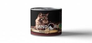 Landor TURKEY AND DUCK FOR CATS  для взрослых кошек индейка с уткой