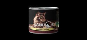 LandorTURKEY AND RABBIT FOR CATS для взрослых кошек индейка с кроликом