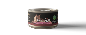 Landor ADULT CATS CHIKEN BREAST WITH CRAB - дополнительное питание для взрослых кошек куриная грудка с крабом