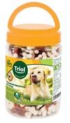 Кальцинированные косточки с уткой для собак, 450г (банка), Triol
