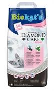 BIOKAT'S  Diamond Care FRESH наполнитель комкующийся с активированным углем с ароматизатором 8л