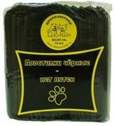 Доброзверики подстилки впитывающие для животных с суперабсорбентом  60х40 см, 14 шт, черные