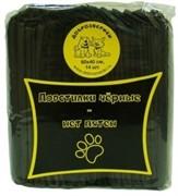 Доброзверики подстилки впитывающие для животных с суперабсорбентом  60х60 см, 12 шт, черные