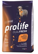 Пролайф Дуал Фреш Эдалт Медиум/Лардж Индейка, Свинина и Рис сухой корм для собак  12 кг