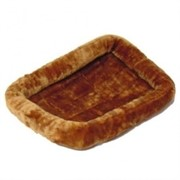 MidWest лежанка Pet Bed меховая 56х33 см коричневая