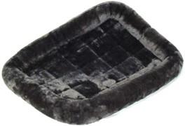 MidWest лежанка Pet Bed меховая 61х46 см серая
