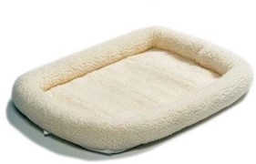 MidWest лежанка Pet Bed флисовая 53х30 см белая