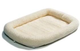 MidWest лежанка Pet Bed флисовая 76х53 см белая