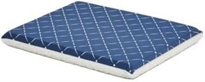 MidWest лежанка ортопедическая двусторонняя флис/текстиль синяя 76х53 см