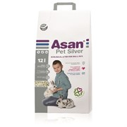Наполнитель для мелких грызунов Асан Asan Pet Silver 12L, бумажный с коллоидным серебром