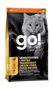 Go Natural Holistic Беззерновой для котят и кошек с чувствительным пищеварением со свежей уткой Sensitivity Shine Grain Free Duck Cat Recipe (7,26 кг)