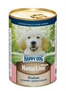 HAPPY DOG  Ягненок  с печенью, сердцем и рисом для щенков - 0,4 кг