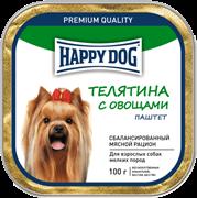 Happy Dog Телятина с овощами паштет  0,1 кг
