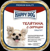 Happy Dog Телятина с сердцем паштет 0,1 кг