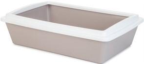 Beeztees  Туалет д/кошек с бортиком светло-розовый 50*35*12см