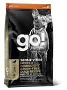 Go Natural Holistic Беззерновой для щенков и собак с цельной уткой для чувствительного пищеварения Sensitivity  Shine Duck Dog Recipe, Grain Free, Potato Free (9,98 кг)