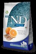 FARMINA N&D GF Сухой беззерновой корм для взрослых собак с рыбой и апельсином Adult Fish&Orange (12 кг)