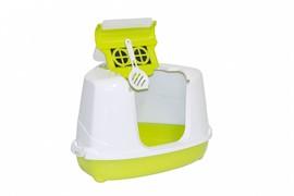 Moderna Туалет-домик угловой Flip с угольным фильтром, 55х45х38см, лимонно-желтый (Flip corner)