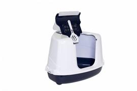 Moderna Туалет-домик угловой Flip с угольным фильтром, 55х45х38см, черничный (Flip corner)