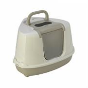 Moderna Туалет-домик угловой Flip с угольным фильтром, 55х45х38см, теплый серый (Flip corner)