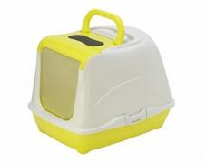 Moderna Туалет-домик Flip с угольным фильтром, 50х39х37см, лимонно-желтый (Flip cat 50 cm)